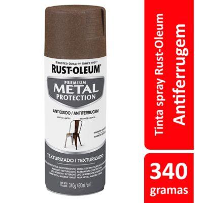 Tinta Spray Texturizado Metal Protection 340ml Marrom Escuro