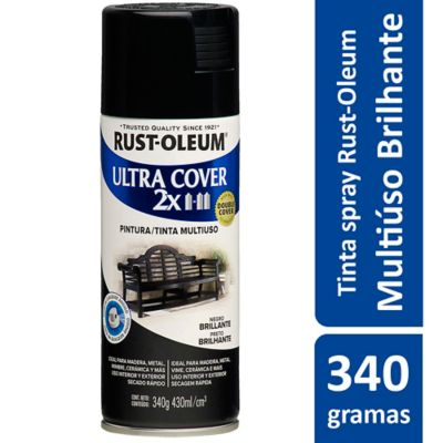 Tinta Spray Brilhante Ultra Cover 430ml Preto