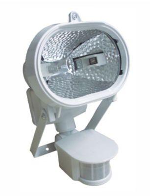 Refletor Oval Halogeno com Sensor 150W, Branco