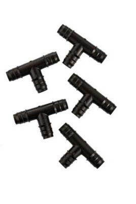 Conexão em T 5 Peças, Preto 5, 16mm