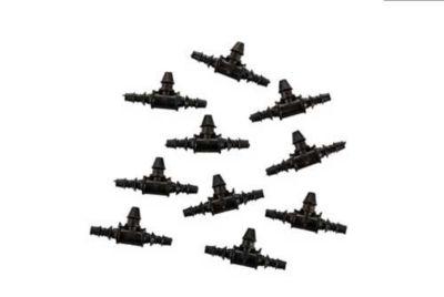 Conexão em LD10 Kit 10 Peças, Preto, 4/7mm