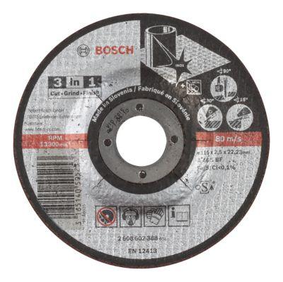 Disco Abrasivo Bosch 3-em-1 Corte/Desbaste Bosch/Polimento 115x2,5mm Centro Reto