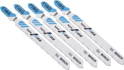 Lâmina de serra tico tico Bosch T118G Basic for metal blister com 5 unidades