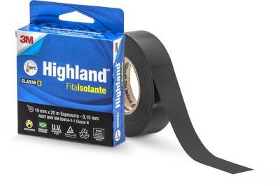 Fita Isolante Highland Preta 19mmx20m