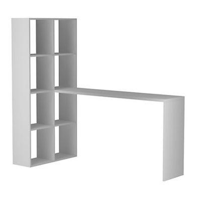 Escrivaninha Estante BE 3806, Branco, 135x69x149cm