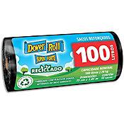 Saco de lixo 100 Litros Super forte reciclado com 10 sacos, preto