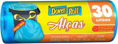 Saco Super Forte com Alças com 20 Sacos, Azul, 30L, 45x22x30cm