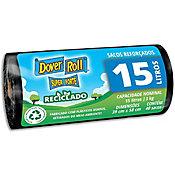 Saco Super Forte Reciclado com 40 Sacos, Preto, 15L, 40x27x22cm