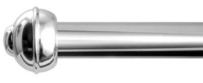 Kit de Varão Alumínio Elegance 2,00m Cromado Prata