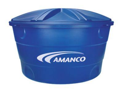 Caixa De Água 1.000L Polietileno Tampa Encaixe Azul
