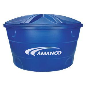 Caixa De Água 310L Polietileno Tampa Encaixe Azul