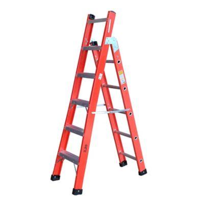 Escada FVD Multiuso 6 Degraus/10 Degraus, Vermelho