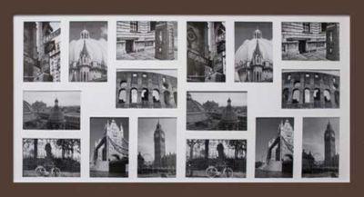 Porta Retrato Multifotos 85x45cm Madeira Marrom