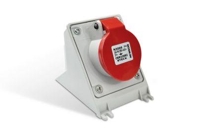 Tomada Industrial 3P+T Vermelha 32A 380/440V