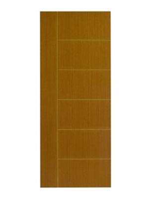 Folha de Porta Frisada Madeira Solida MDP Freijó Natural 210x72x3,5cm Brisa