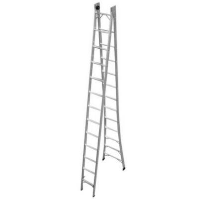 Escada Extensiva 2 em 1 7,03m 13 Degraus Cromado