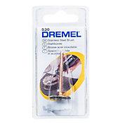 Escova de Aço Inox Circular 3/4 Dremel, Cinza