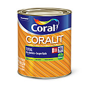 Esmalte Sintético Tabaco 900ml Coralit Premium para Madeiras e Metais