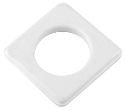 Kit Ilhós de Plástico Quadrado 28mm 20 Peças Branco