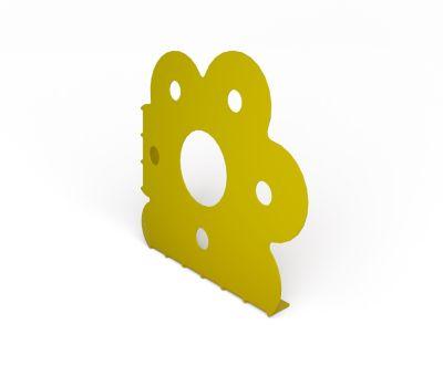 Suporte Flor Par, Amarelo