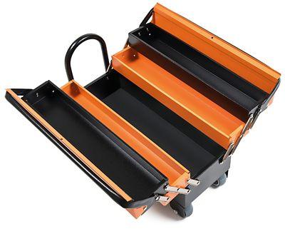 Caixa Sanfonada Pro Cargobox com 5 Gavetas Preto e Laranja