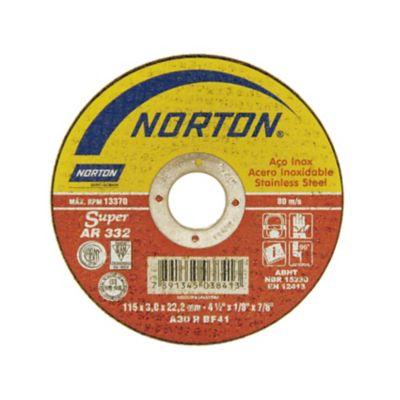 Disco de Corte Ar332 Super Inox, 115X3,0X22,22 - Norton