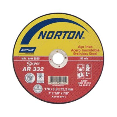Disco de Corte Ar332 Super Inox 178x3,0x22,22mm