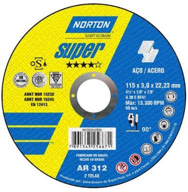 Disco de Corte Ar312 Super, 115X3,0X22,22