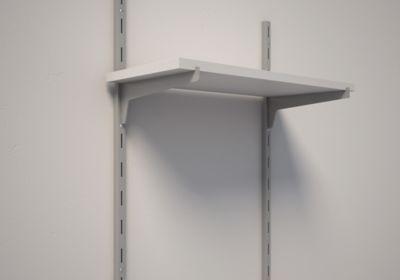 Trilho Engate Simples, Cinza, 100cm, 1000x15x15