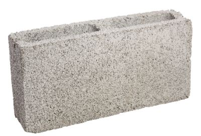 Bloco Concreto Liso, Cinza, 09x19x39cm