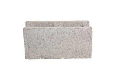 Canaleta Concreto Liso, Cinza, 14x19x39cm