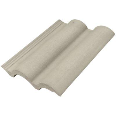 Telha Concreto Tradição Class, Cinza Pérola, 42x33x4,3cm