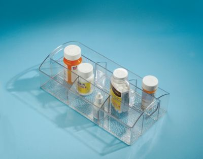 Porta Remédio com 7 Compart Plástico, Transparente 30X15X9cm