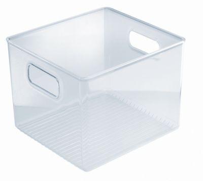 Organizador para Banheiro com Alças Plástica, Transparente,20X20X15cm