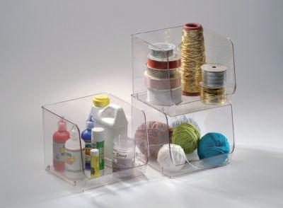 Organizador de Plástico para Dispensa Empilhável Gr, Transparente 16x19x17cm