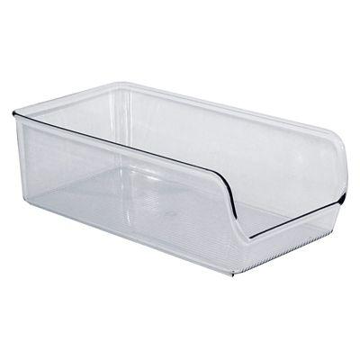 Organizador de Plástico para Dispensa 14cm Larg, Transparente 14x28x8,9cm