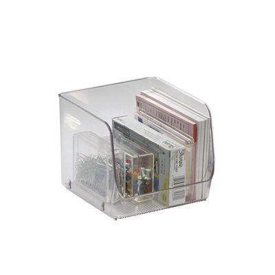 Organizador de Plástico para Dispensa Empilhável 15,2x15,7x13cm Transparente