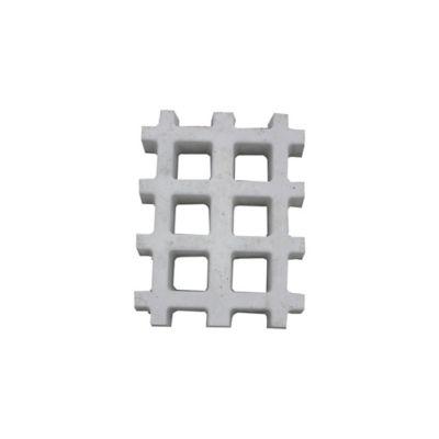 Pisograma Grade Retangular, Cinza, 43x33x7cm