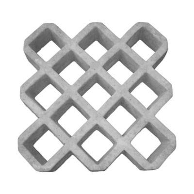 Pisograma Grade Diagonal, Cinza, 50x50x9cm