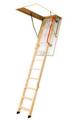 Escada de Madeira Sotão, Madeira Pinho, 130x60x305cm