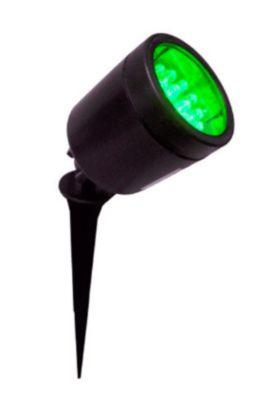 Espeto De Jardim 6108 com 19 LEDs Luz Verde Articulados Bivolt 2W Preto