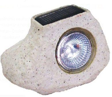 Luminária Baliza Solar Pedra Rust C/1 Led Br Resina