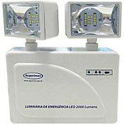Luminária de Emergência 2 Faróis 2000 Lumens, Branco