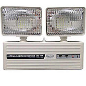 Luminária de Emergência 2 Faróis 350 Lumens, Branco