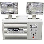 Luminária de Emergência 2 Faróis 960 Lumens, Branco