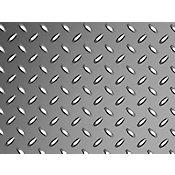 Chapa de Piso em Aço Xadrez 0,3x120x3m Cromado