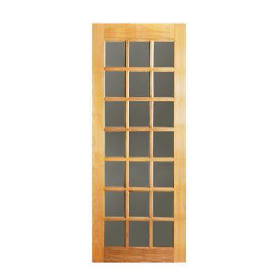 Folha de Porta Madeira Macica Tauari Natual 210x82x3,5cm AD Int Vd Wood Glass