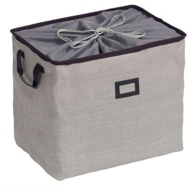 Caixa Organizadora Dobrável, Cinza, 39x53x38cm