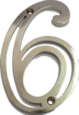 Número N6 Niquelado
