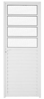 Porta Vidro e Travessa Alumínio Branco Direita 210x80x5,5cm Malta